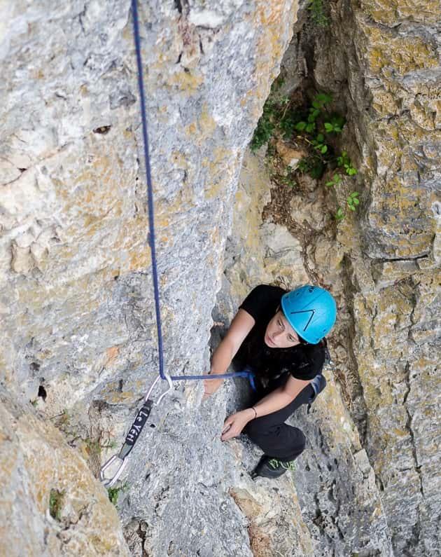 Escalade à la falaise de Saugras à 25 minutes de Montpellier